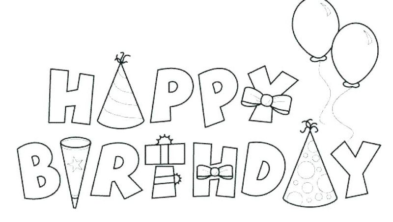 Birthday Coloring Pages For Grandma