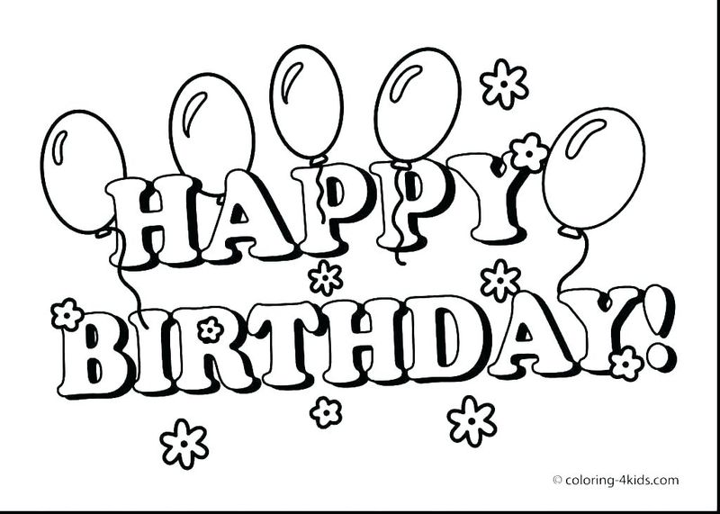Birthday Coloring Pages For Toddlers