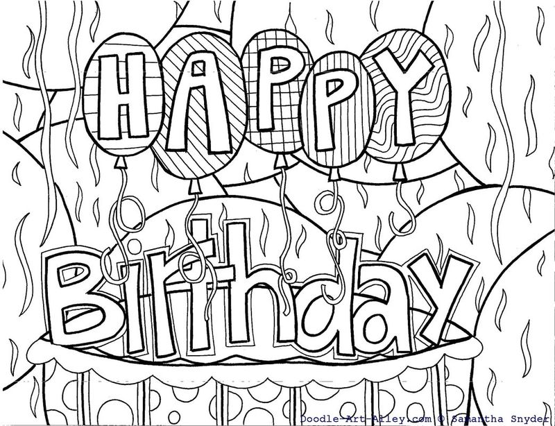 Birthday Coloring Pages Pdf