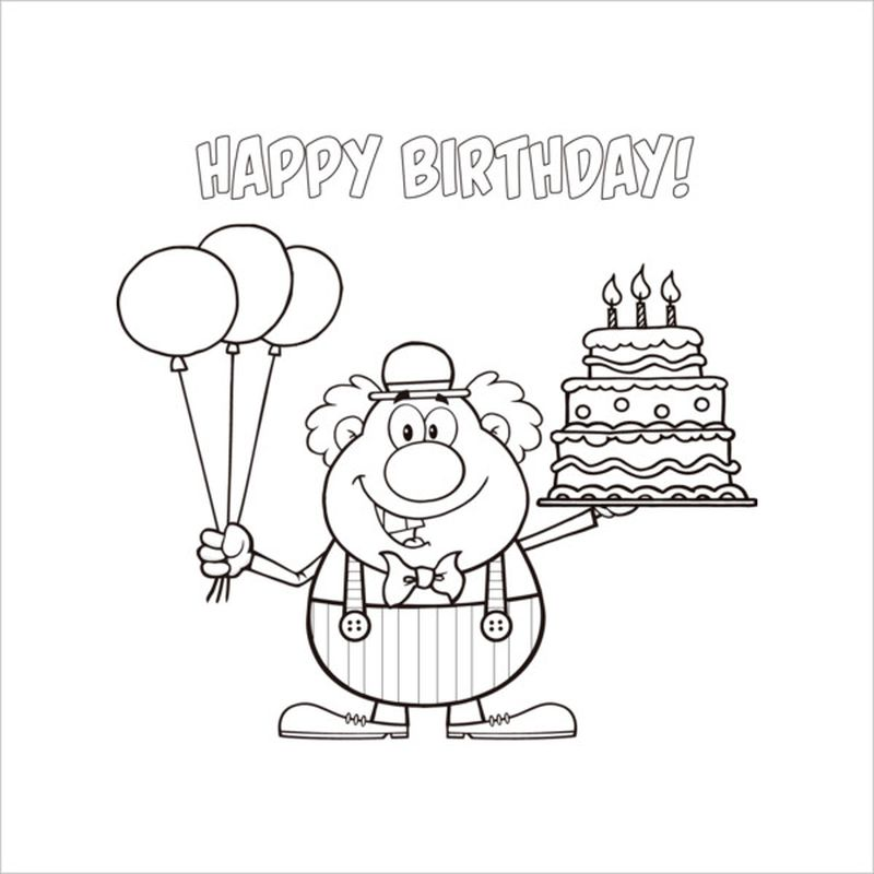 Birthday Colouring Pages For Dads