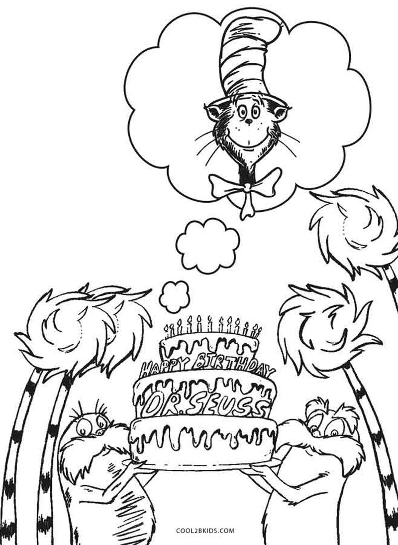 Birthday Colouring Pages Free Printable
