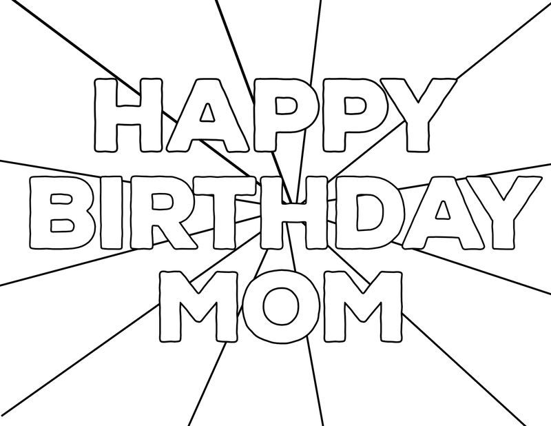 Birthday Crown Coloring Page
