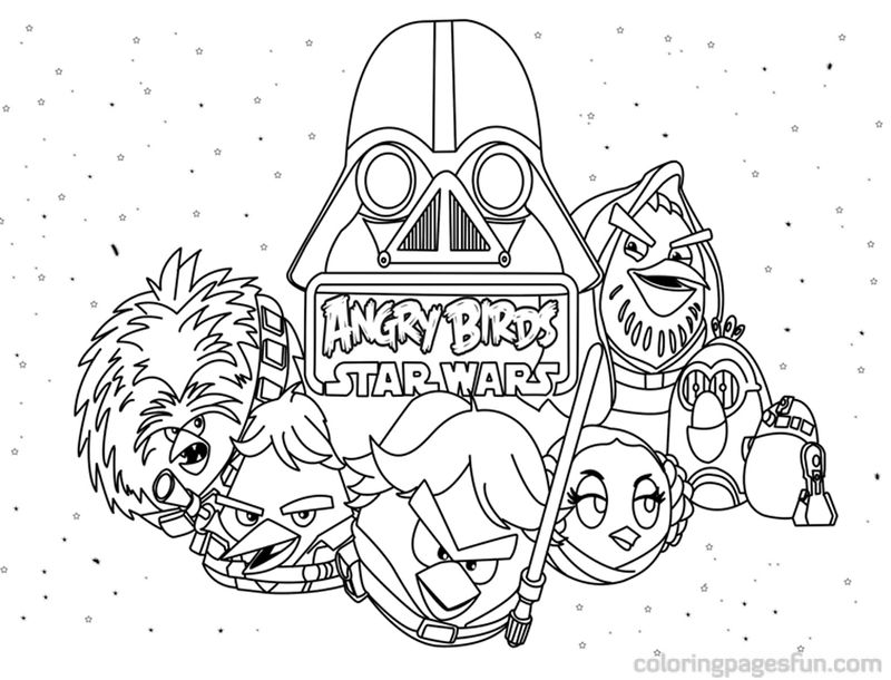 Black And White Angry Birds Coloring Pages