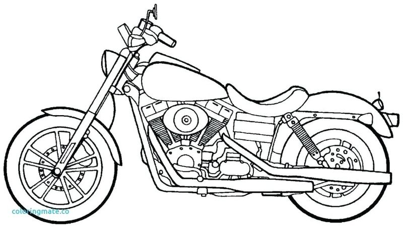 Black And White Motorcycle Coloring Pages