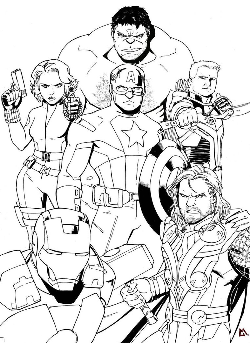 Black Widow Avengers Coloring Pages