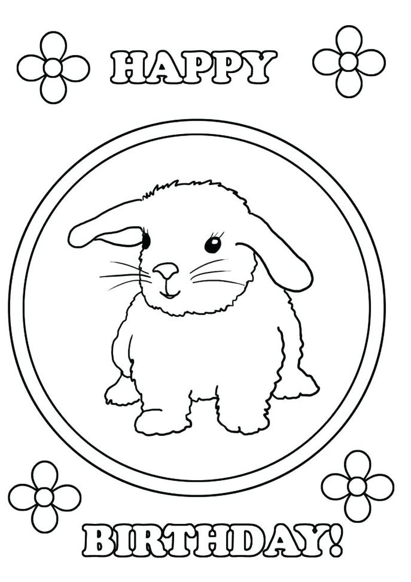 Blank Birthday Cake Coloring Page 1