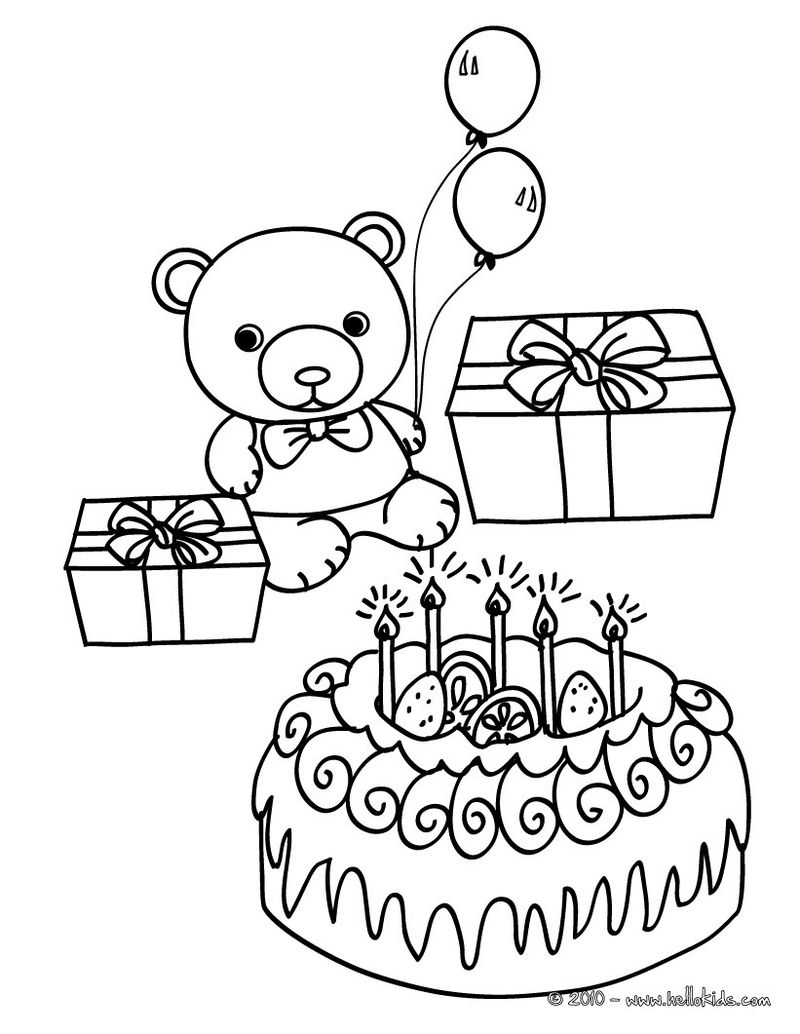 Blank Coloring Page Birthday Card