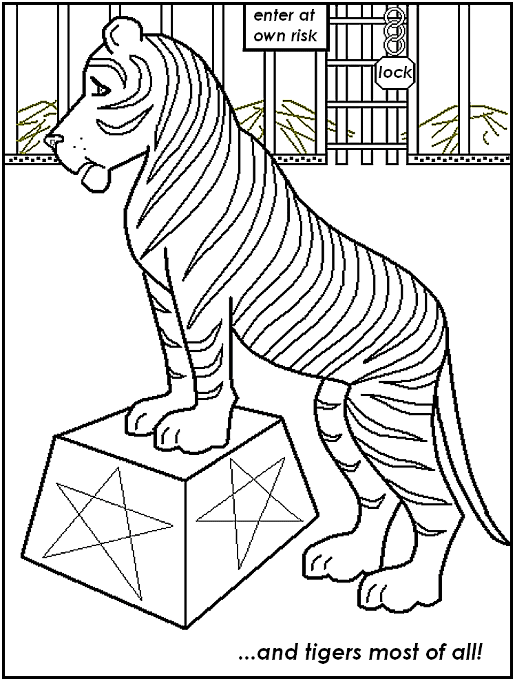 Blank Coloring Pages Circus