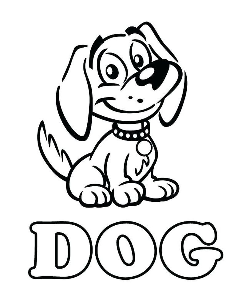 Blank Coloring Pages Dogs