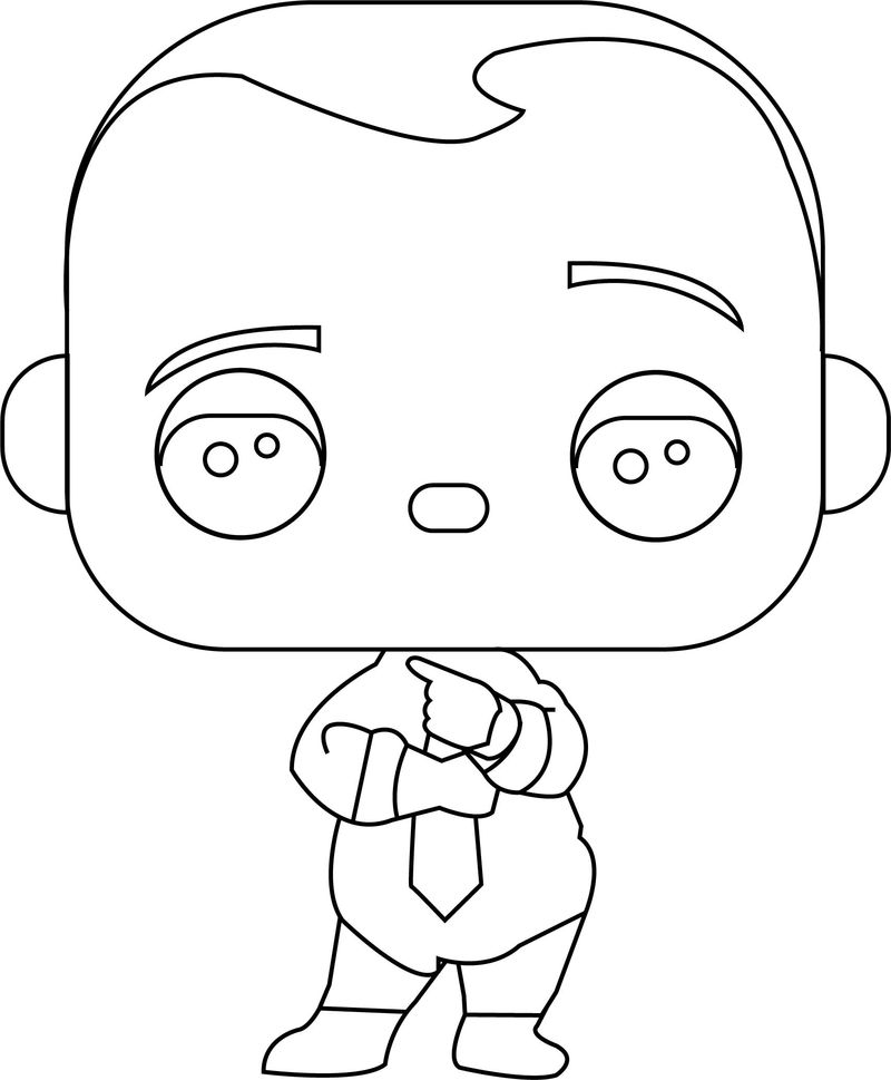 Boss Baby Black And White Coloring Pages