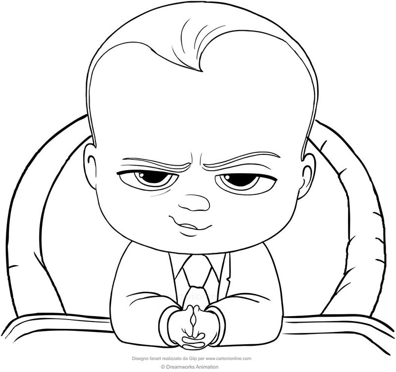 Boss Baby Coloring Pages Cute New Baby Brother