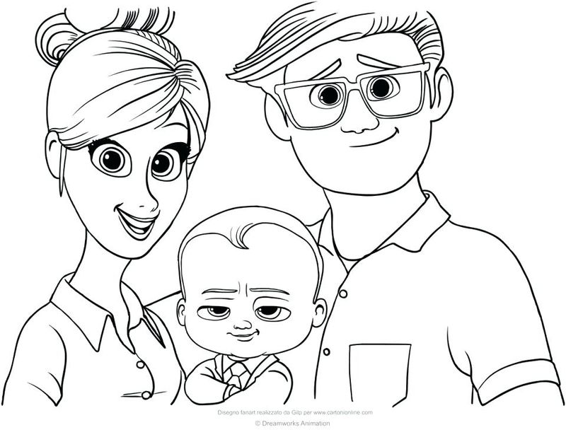 Boss Baby Coloring Pages Cute