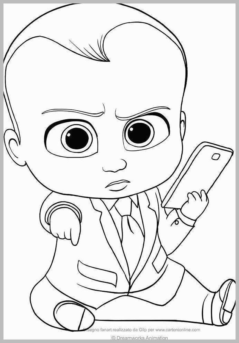 Boss Baby Coloring Pages Pdf