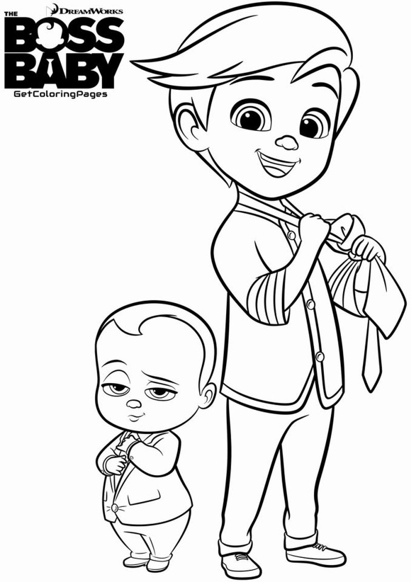 Boss Baby Parents Black And White Coloring Pages