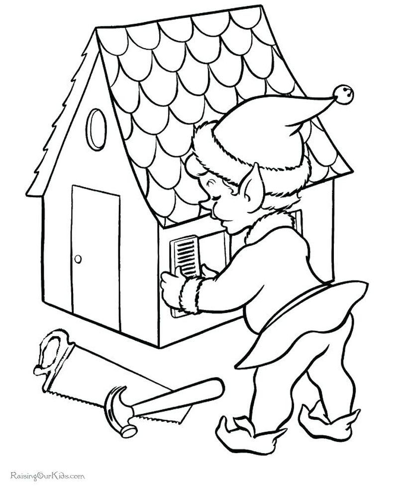 Boy And Girl Elf Coloring Pages