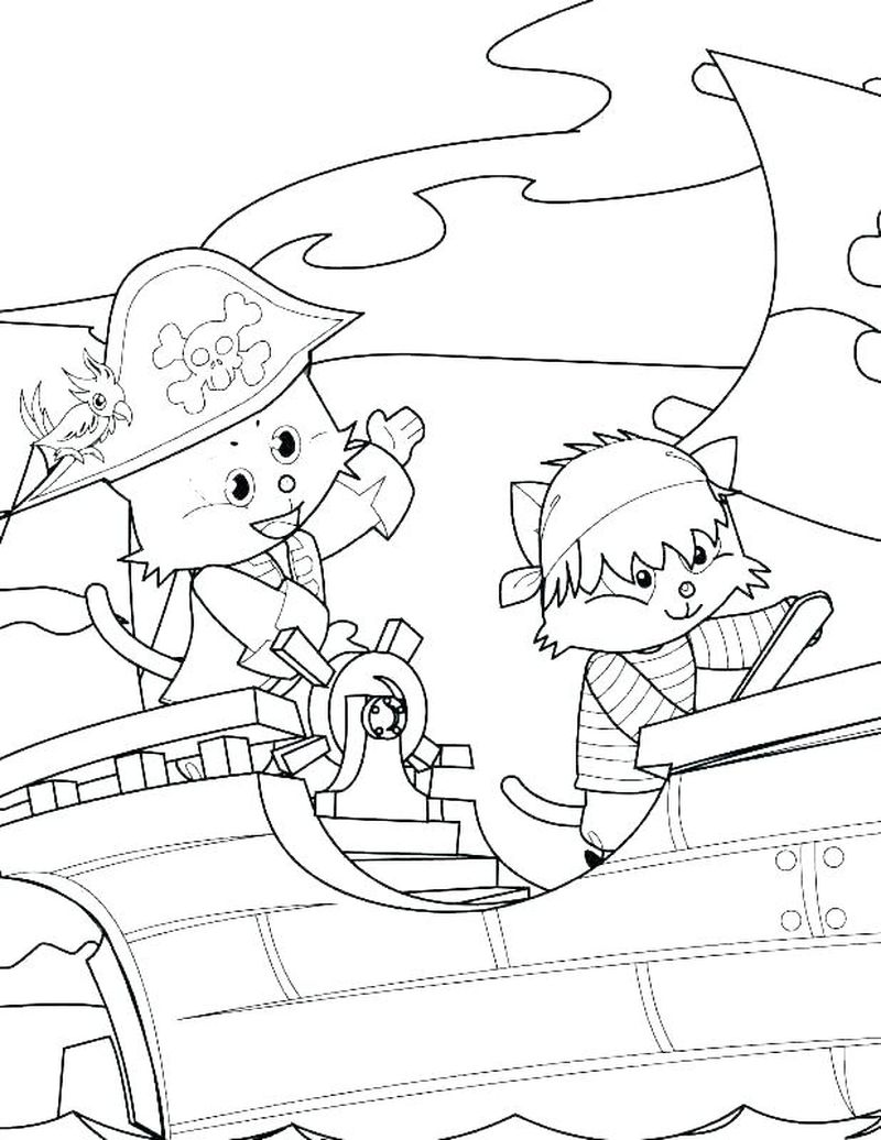 Boy Pirate Coloring Pages
