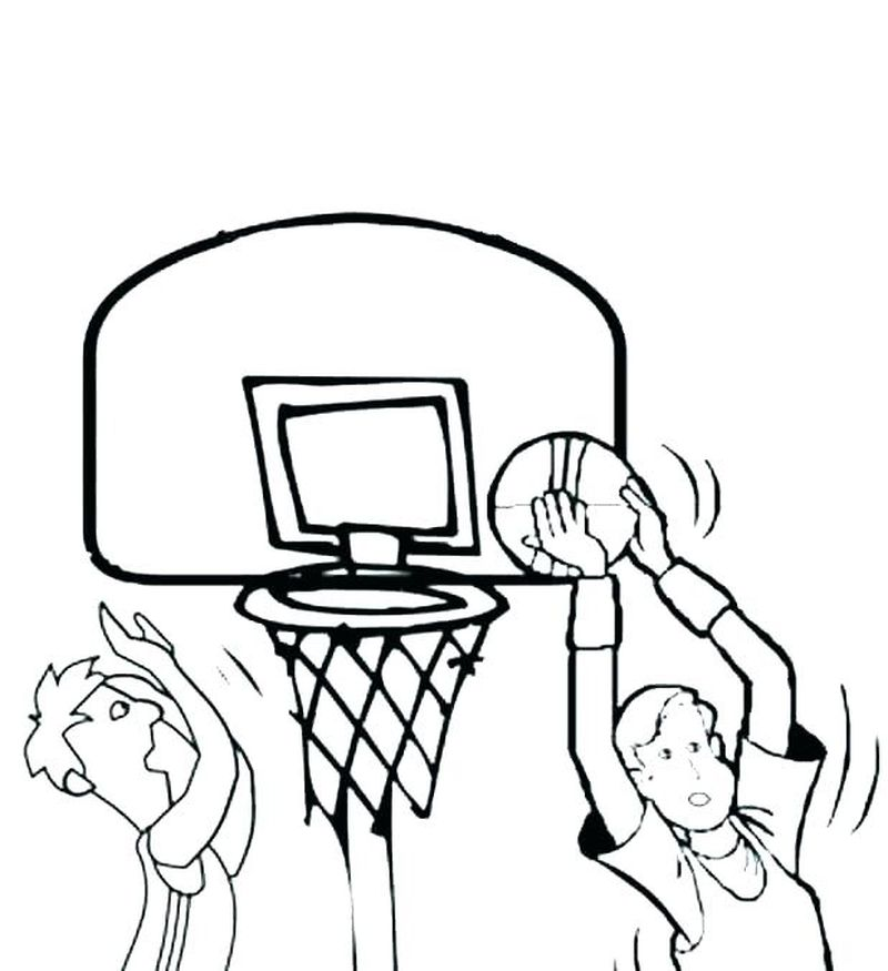Boys Basketball Coloring Pages