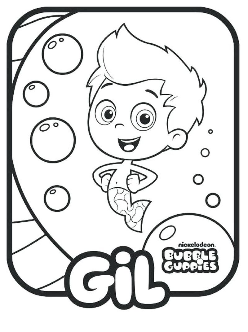 Bubble Guppies Birthday Coloring Pages