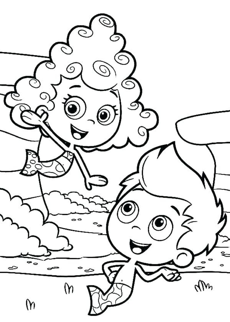 Bubble Guppies Coloring Pages Deema