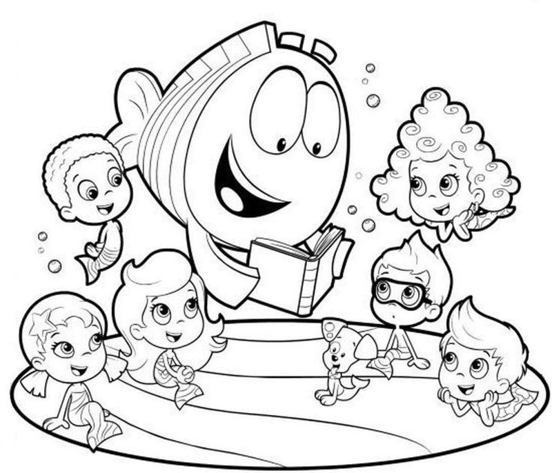 Bubble Guppies Coloring Pages Nick Jr