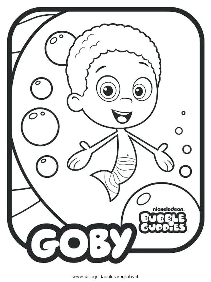 Bubble Guppies Coloring Pages Online