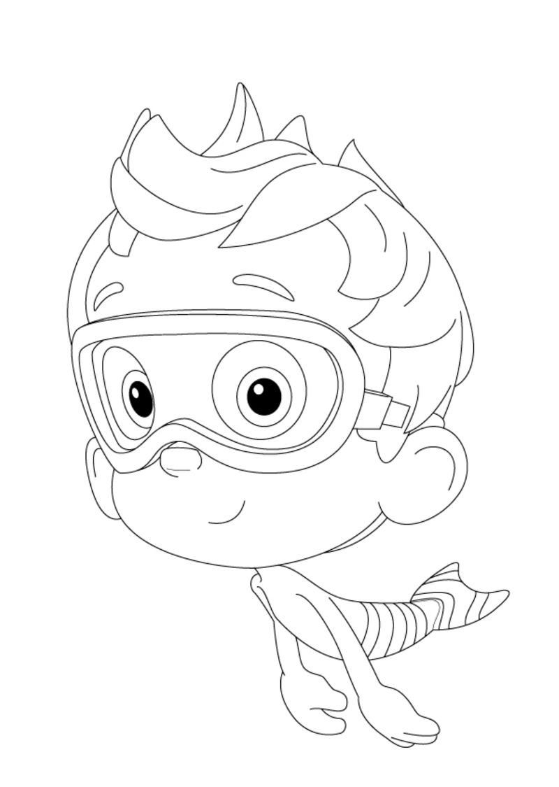 Bubble Guppies Colouring In Pages