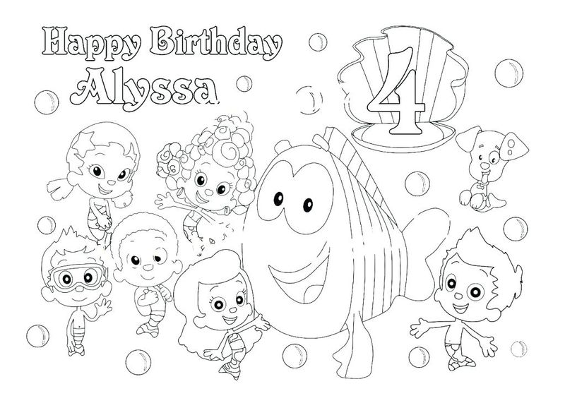 Bubble Guppies Goby Coloring Pages