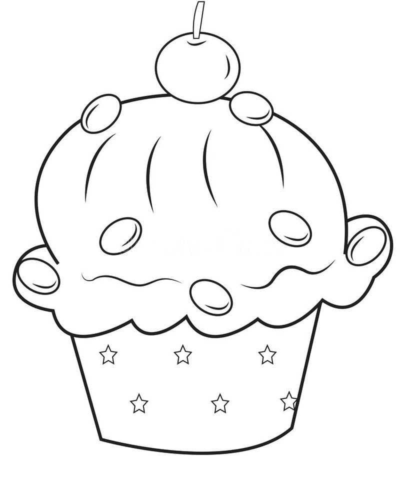 Build A Cupcake Coloring Pages
