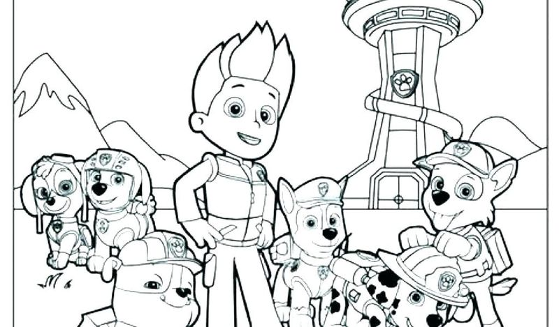 Cali Paw Patrol Coloring Pages