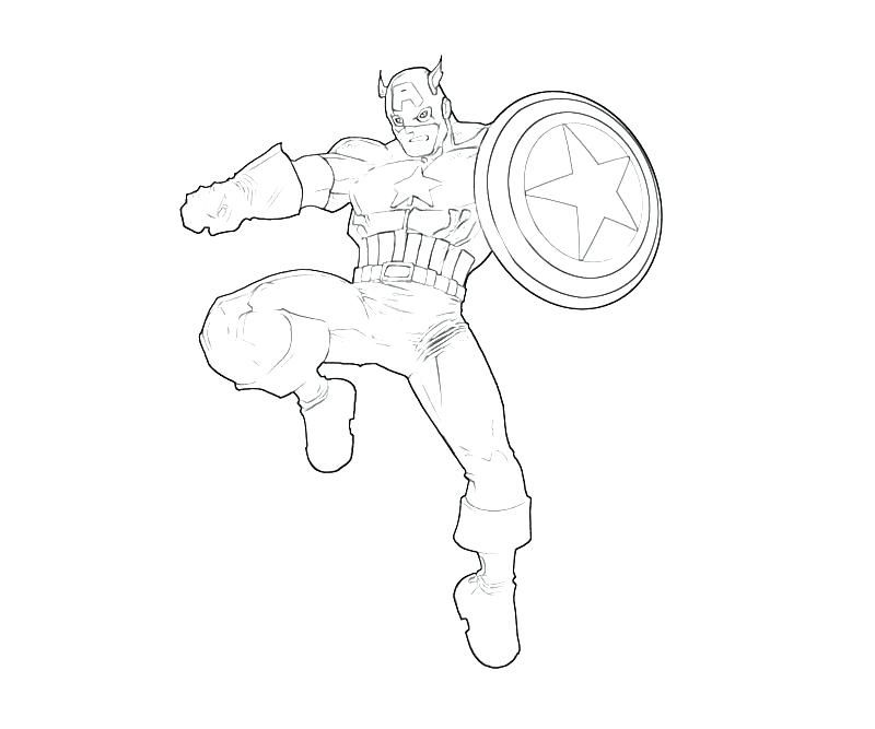 Captain America 2 Coloring Pages