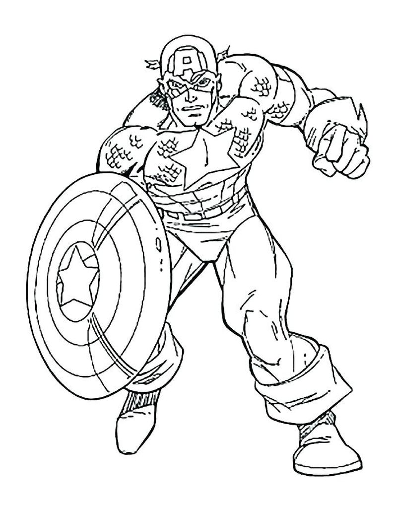 Captain America Age Of Ultron Coloring Pages
