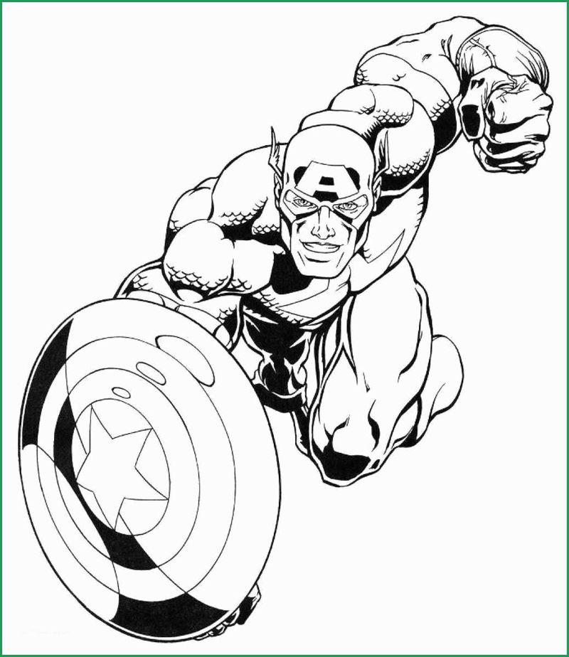 Captain America Cartoon Coloring Pages Adult