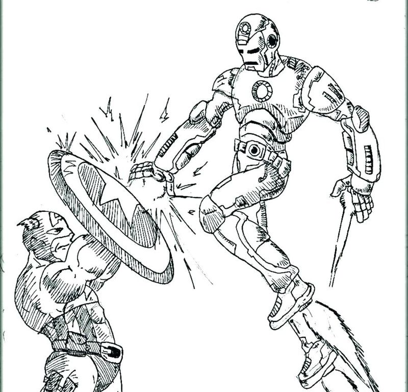 Captain America Coloring Pages Crash Into Aech Other