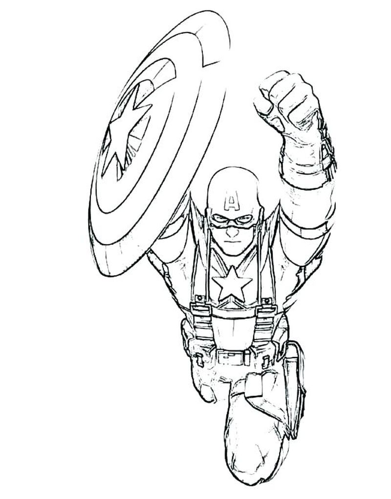 Captain America Coloring Pages For Kids Printable