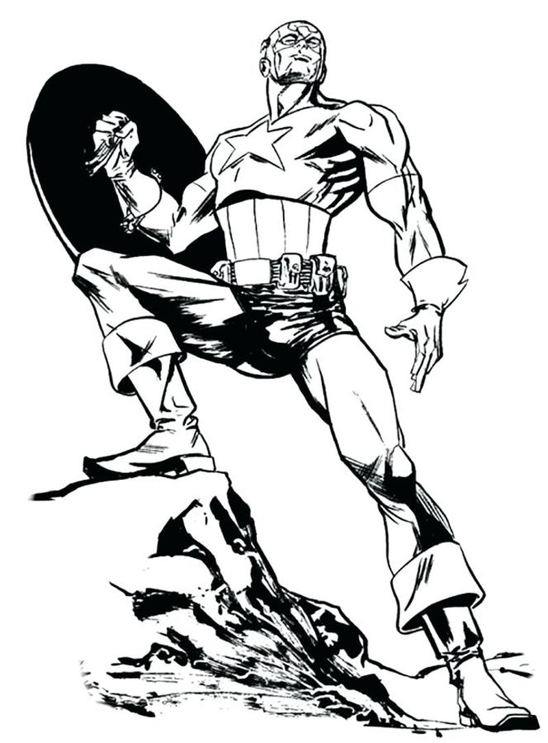 Captain America Coloring Pages Free