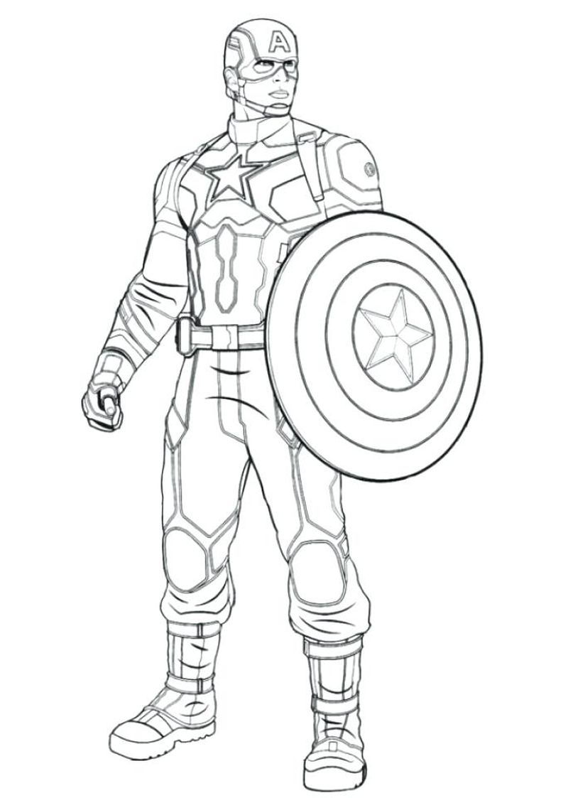 Captain America Coloring Pages Online