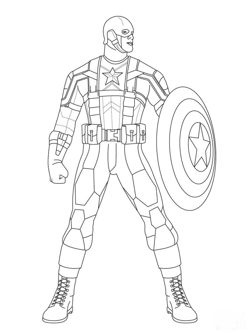 Captain America Coloring Pages Real