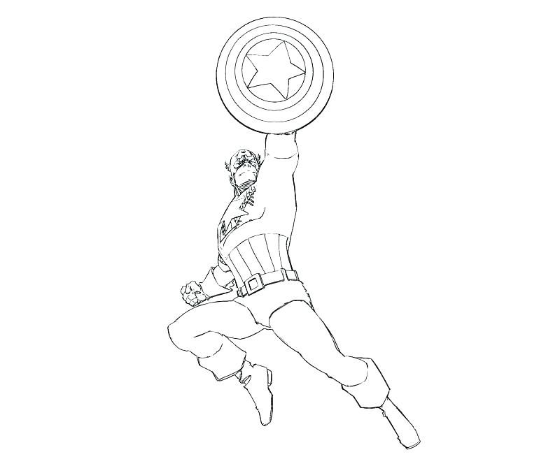 Captain America Fighting Coloring Pages