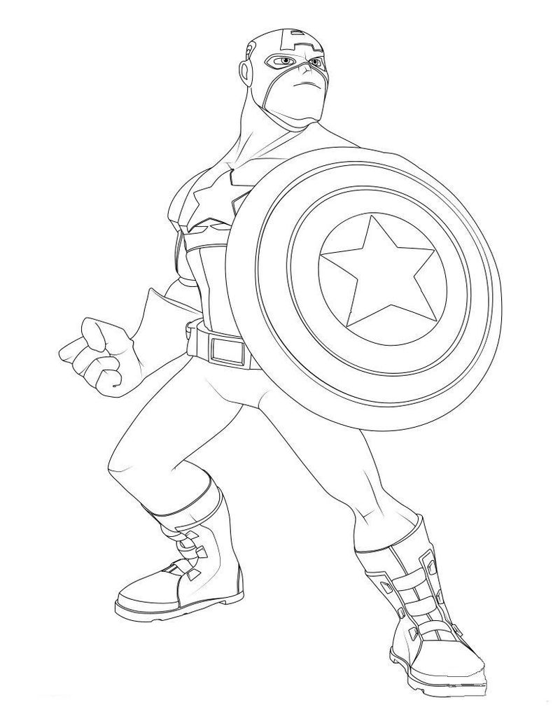Captain America Hulk Coloring Pages