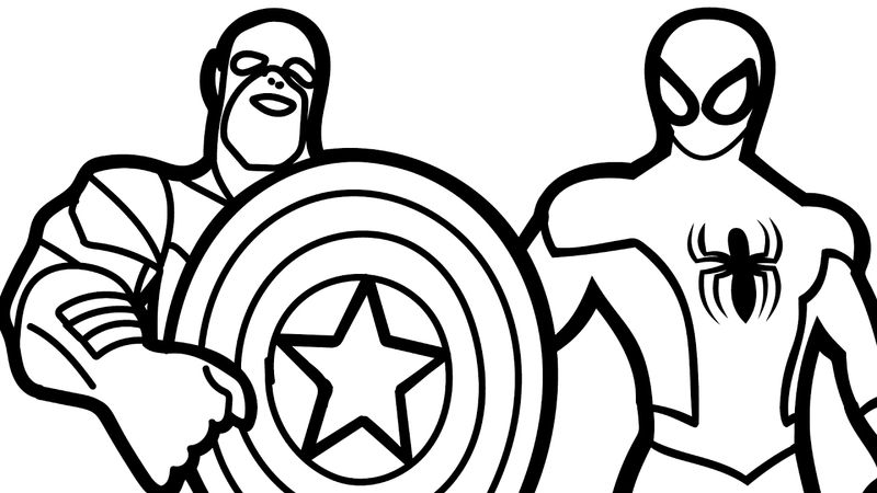 Captain America Infinity War Coloring Pages