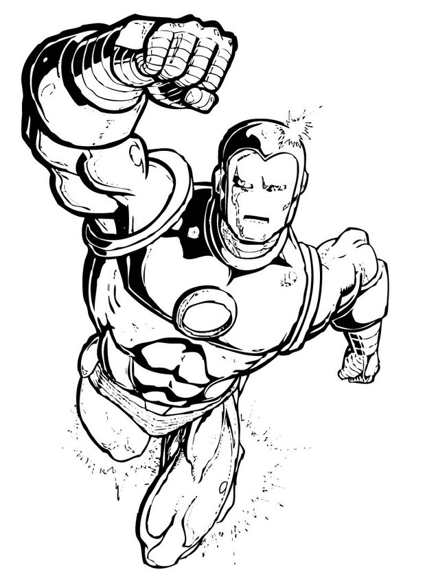 Captain America Iron Man Coloring Pages