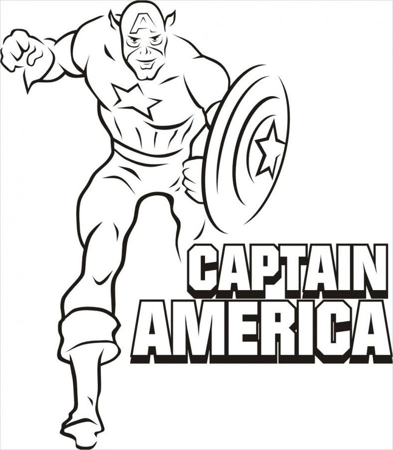 Captain America Lego Coloring Pages