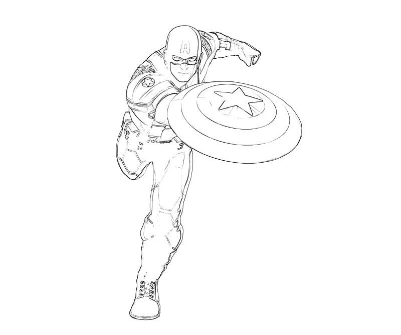 Captain America Logos Coloring Pages