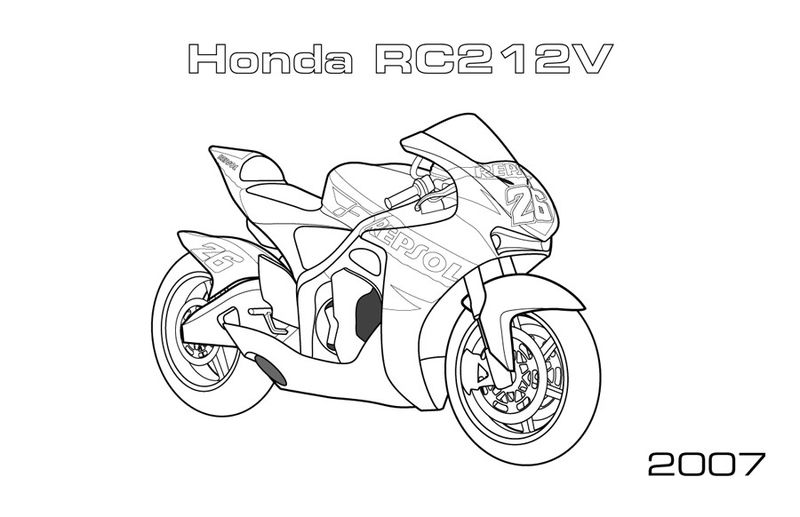 Captain America Motorcycle Coloring Pages