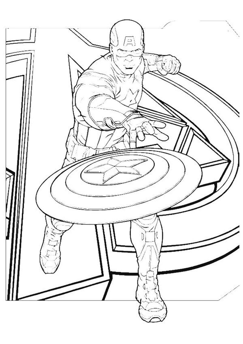 Captain America Soldier Coloring Pages