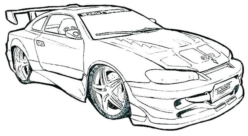 Car Coloring Book Pages