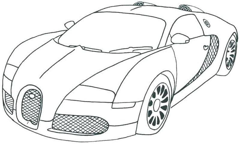 Car Coloring Pages For Adults
