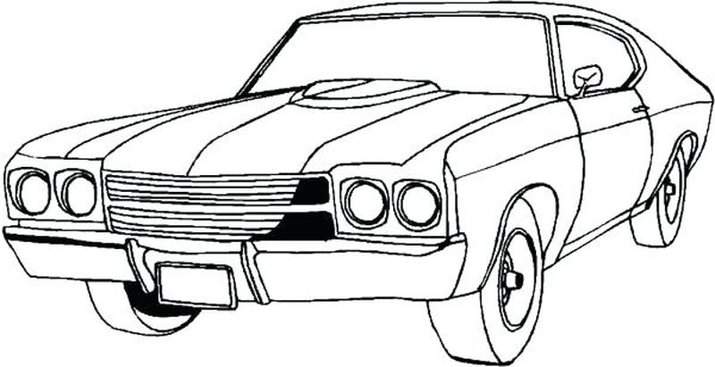 Car Coloring Pages For Girls