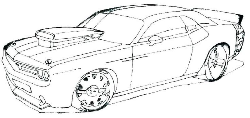 Car Coloring Pages For Kids Printable