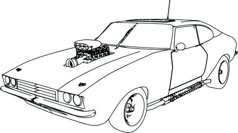 Car Coloring Pages Mustang